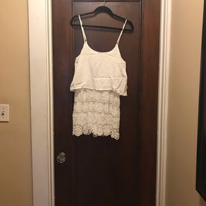 Francesca's lace bottom, flowy top romper